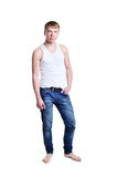 Young man in jeans Stock Photo