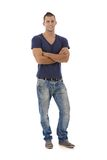 Young man in jeans and tshirt Stock Photography