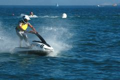 Young man on jet ski Royalty Free Stock Photography
