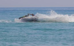 Young Man on Jet Ski, Royalty Free Stock Images