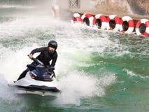 Young Man on Jet Ski. Safari world in Bangkok, Thailand Royalty Free Stock Photos