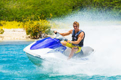 Young Man on Jet Ski Royalty Free Stock Photo