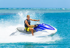 Young Man on Jet Ski Royalty Free Stock Images