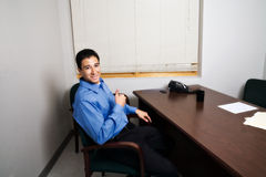 Young Man at Job Interview Royalty Free Stock Images
