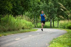 Young Man Jogging Royalty Free Stock Photo