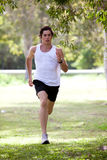 Young Man Jogging in Park Royalty Free Stock Photos