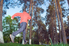 Young man jogging in the park Stock Photography