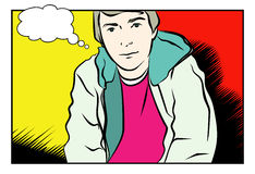 Young Man. JPG and EPS. An Illustration of a Young Man in Comic Style. JPG and EPS Stock Images
