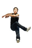 Young man jump. Isolated on white Stock Image