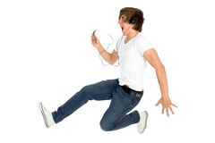 Young man jumping Stock Photography