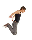 Young man jumping Stock Image