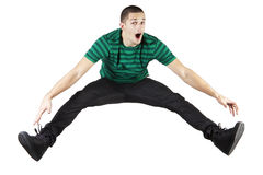 Young man jumping. Stock Image
