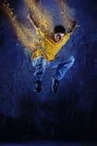 Young man jumping  Royalty Free Stock Image