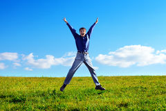 Young Man Jumping Royalty Free Stock Images