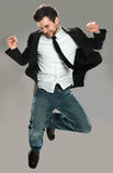 Young Man Jumping Royalty Free Stock Photos