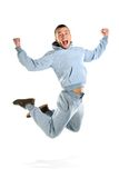 Young man jumping Stock Images