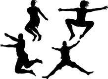 Young man jumping stock illustration