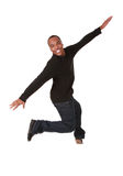 Young man jumping of joy Royalty Free Stock Images