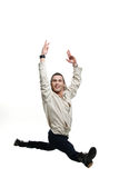 Young man jumping up Royalty Free Stock Image