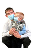 Young man and kid Royalty Free Stock Photography