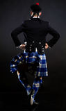 The young man in a kilt Stock Image