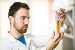 Young man in the lab Stock Photography