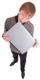 Young man with laptop Stock Photo
