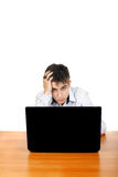 Young Man With Laptop Royalty Free Stock Image