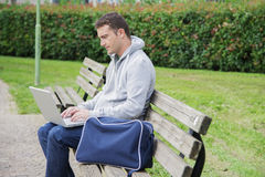 Young man laptop Royalty Free Stock Images