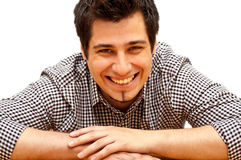 Young man laughing Royalty Free Stock Images
