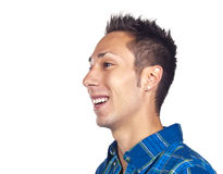 Young man laughing Stock Images