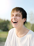 Young Man Laughing Stock Photos
