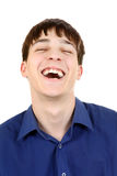 Young Man Laughing Royalty Free Stock Photography