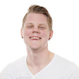 Young man laughing Royalty Free Stock Image
