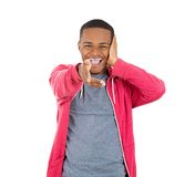 Young man laughing at you Royalty Free Stock Photo