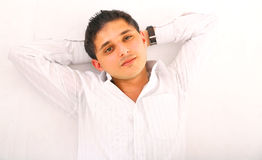 Young Man Laying Down Stock Images