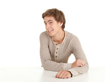 Young man leaning on table Royalty Free Stock Image
