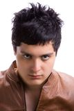 Young man with leather jacket 1 Stock Photo