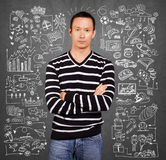 Young man life concept Stock Photography