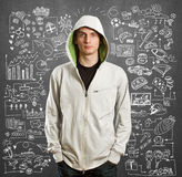 Young man life concept Royalty Free Stock Images