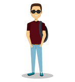 Young man lifestyle avatar. Illustration design Royalty Free Stock Image