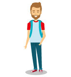 Young man lifestyle avatar. Illustration design Stock Images
