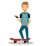 Young man lifestyle avatar. Illustration design Royalty Free Stock Photography