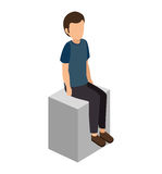 Young man lifestyle avatar. Vector illustration design Stock Photos