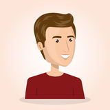Young man lifestyle avatar. Vector illustration design Royalty Free Stock Images