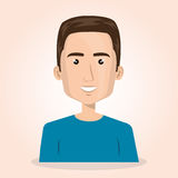 Young man lifestyle avatar. Vector illustration design Stock Photo