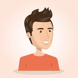 Young man lifestyle avatar. Vector illustration design Royalty Free Stock Image
