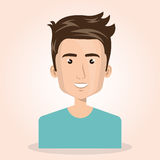 Young man lifestyle avatar. Vector illustration design Stock Images