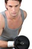 Man lifting weights Royalty Free Stock Photos