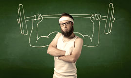Young man lifting weight Royalty Free Stock Image